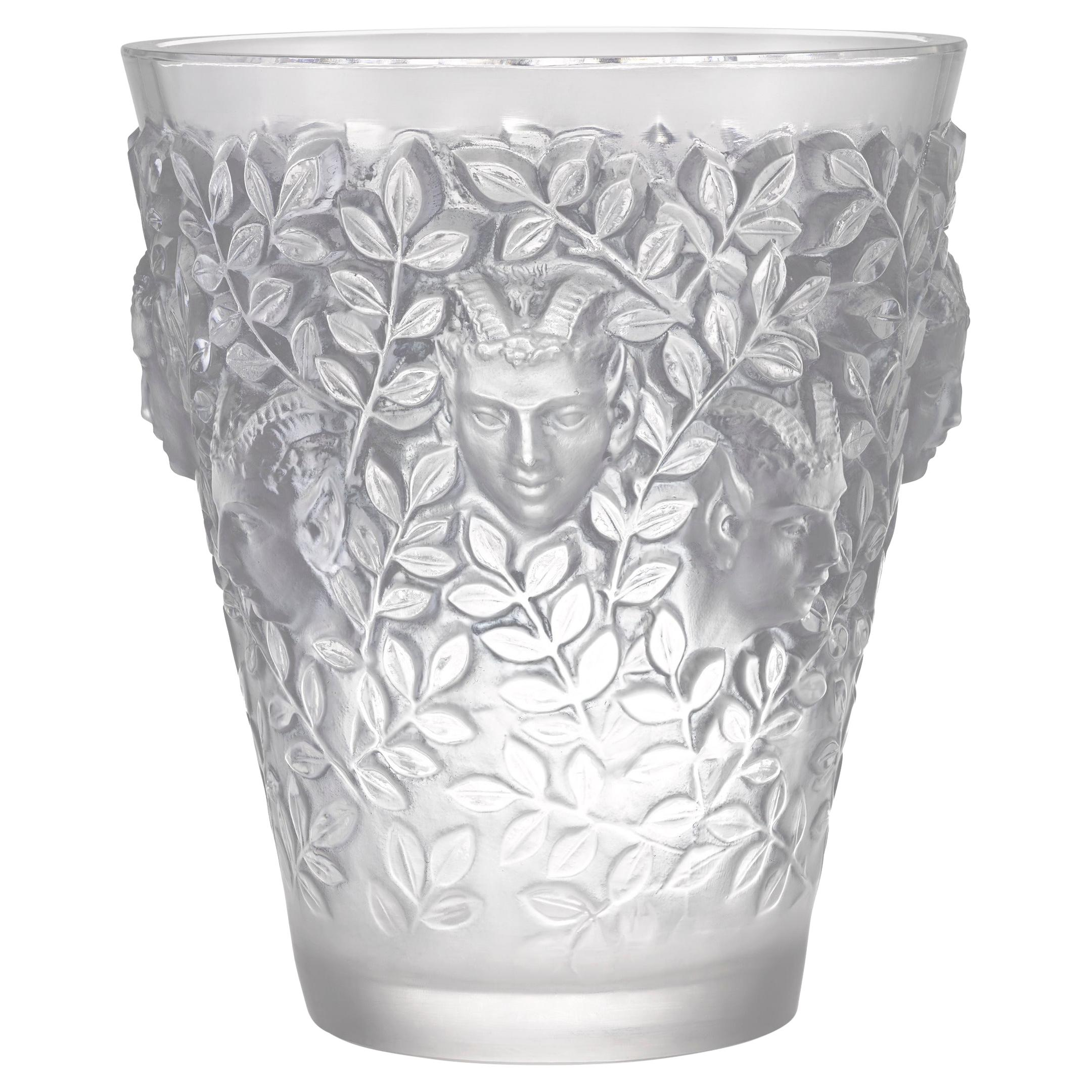 Silenes Glass Vase by René Lalique