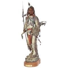 'Silent Sentinel' circa 1996, Painted Bronze Figure by James Regimbal