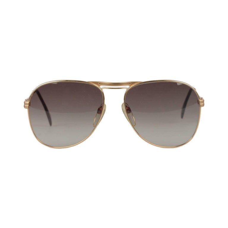 SILHOUETTE Vintage Gold Metal Sunglasses M7019 58-16mm New Old Stock