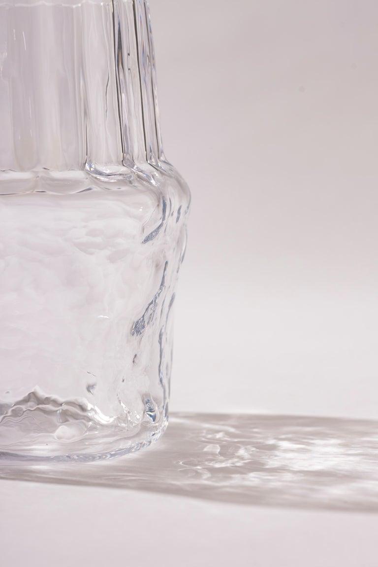 Mexican Silice Vase, Blown Glass, Unique 04 For Sale