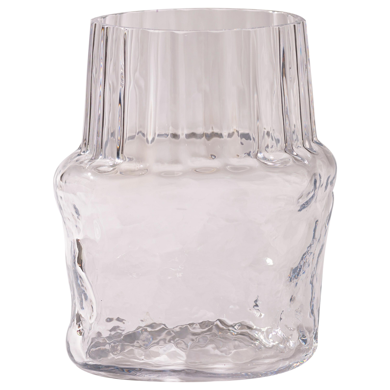 Silice Vase, Blown Glass, Unique 04