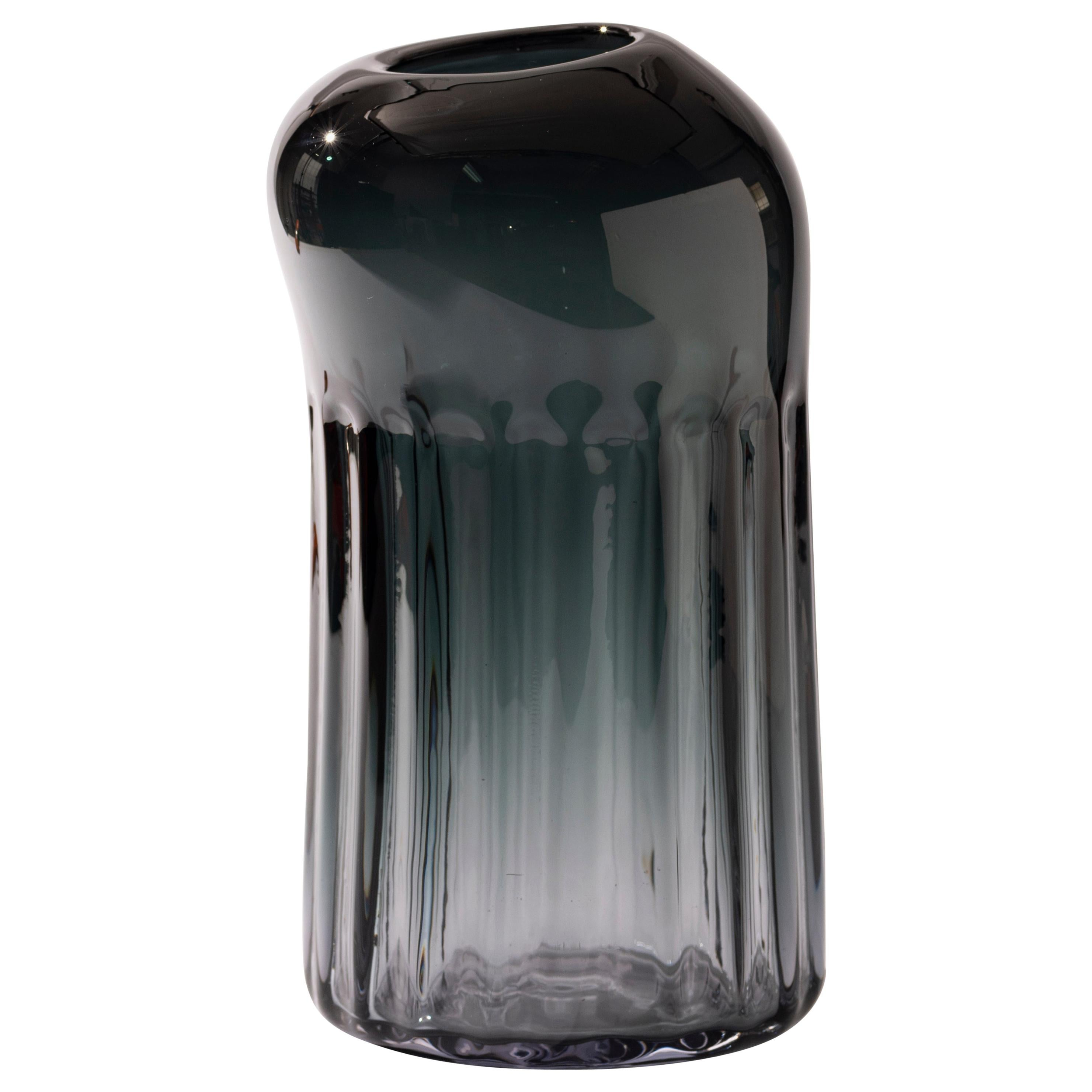Silice Vase, Blown Glass, Unique 05