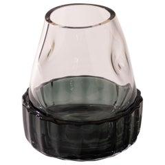 Silice Vase, Blown Glass, Unique 11