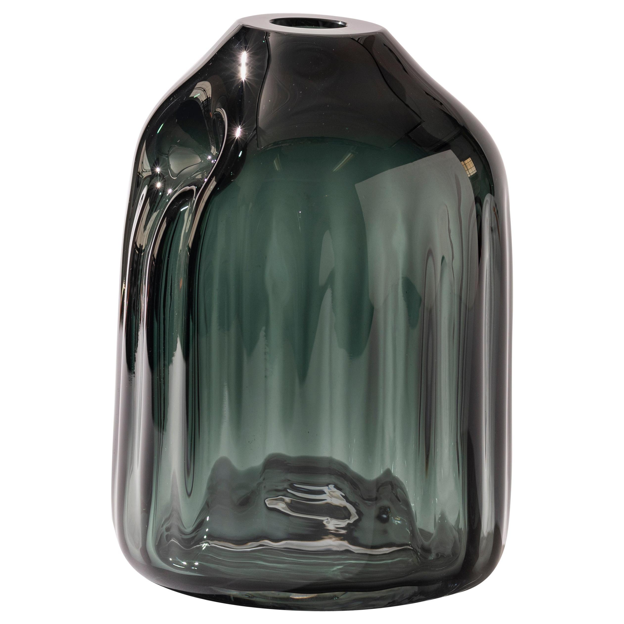 Silice Vase, Blown Glass, Unique 12