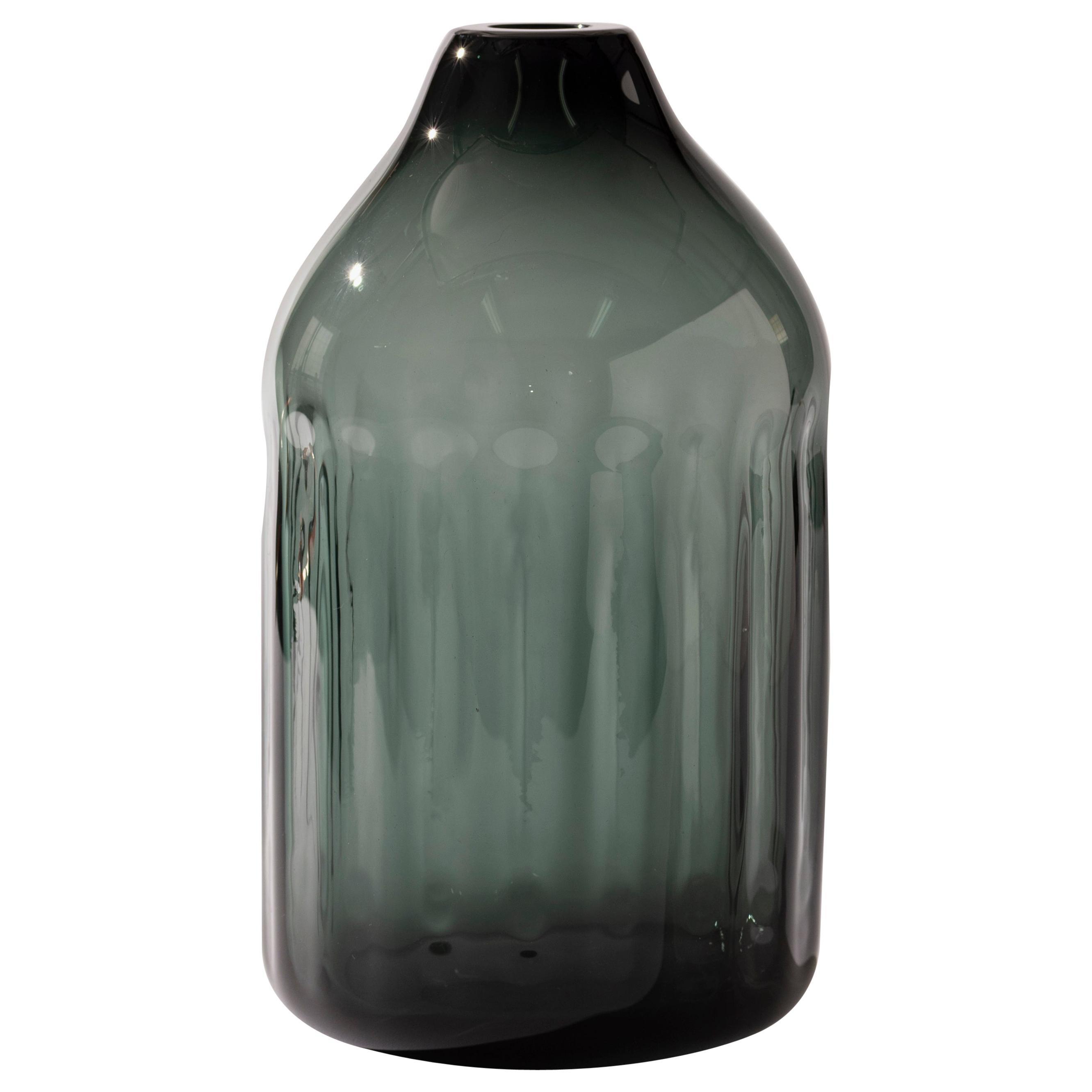 Silice Vase, Blown Glass, Unique 14