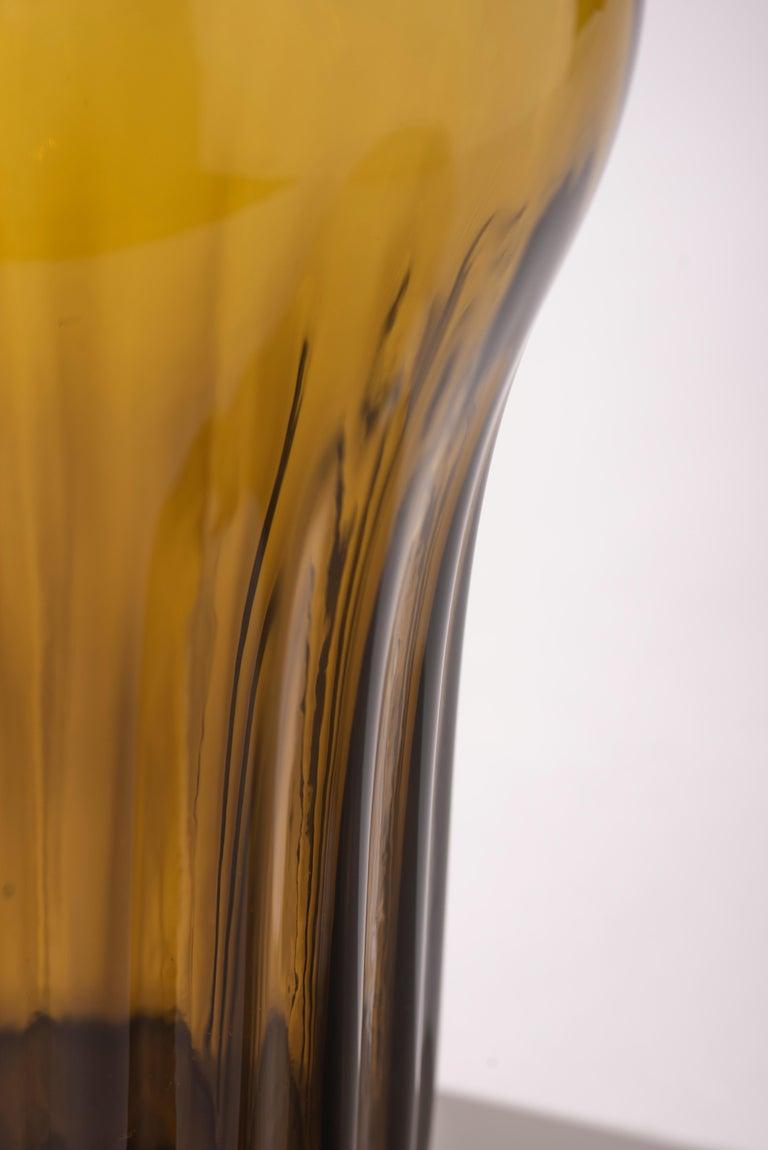 Mexican Silice Vase, Blown Glass, Unique 15 For Sale