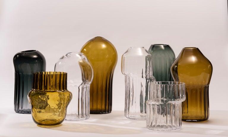 Silice Vase, Blown Glass, Unique 15 For Sale 1