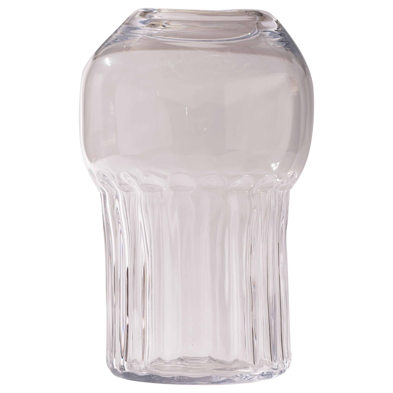 Silice Vase, Blown Glass, Unique 17