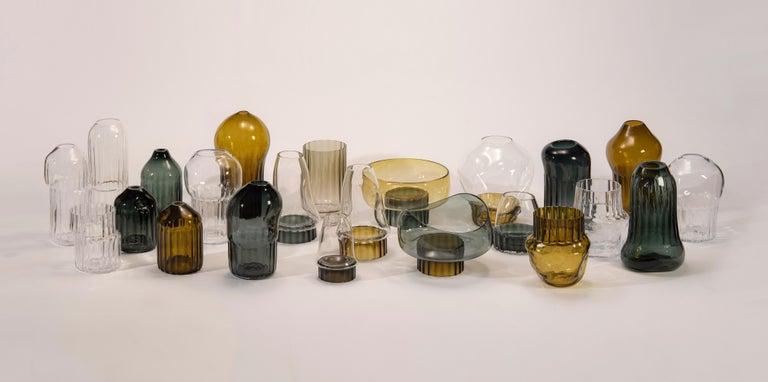 Contemporary Silice Vase, Blown Glass, Unique 22 For Sale