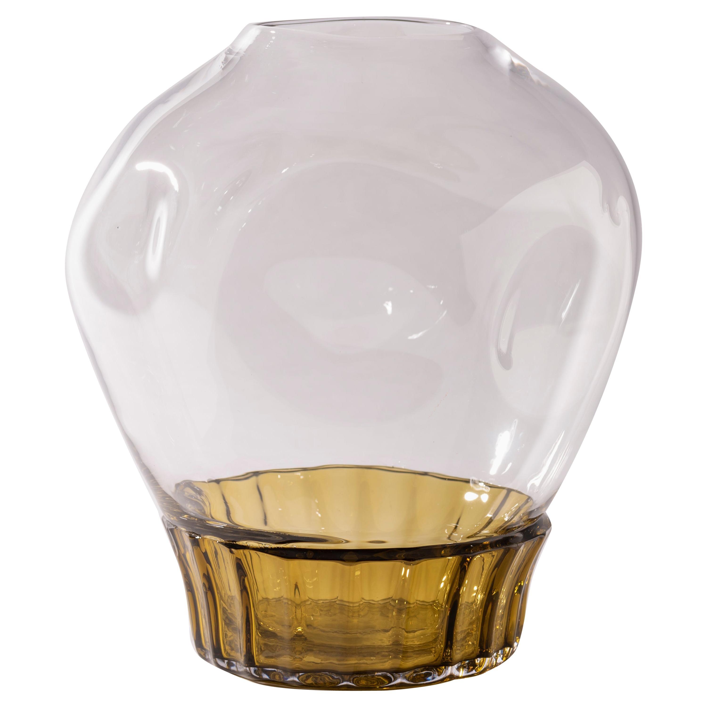 Silice Vase, Blown Glass, Unique 22