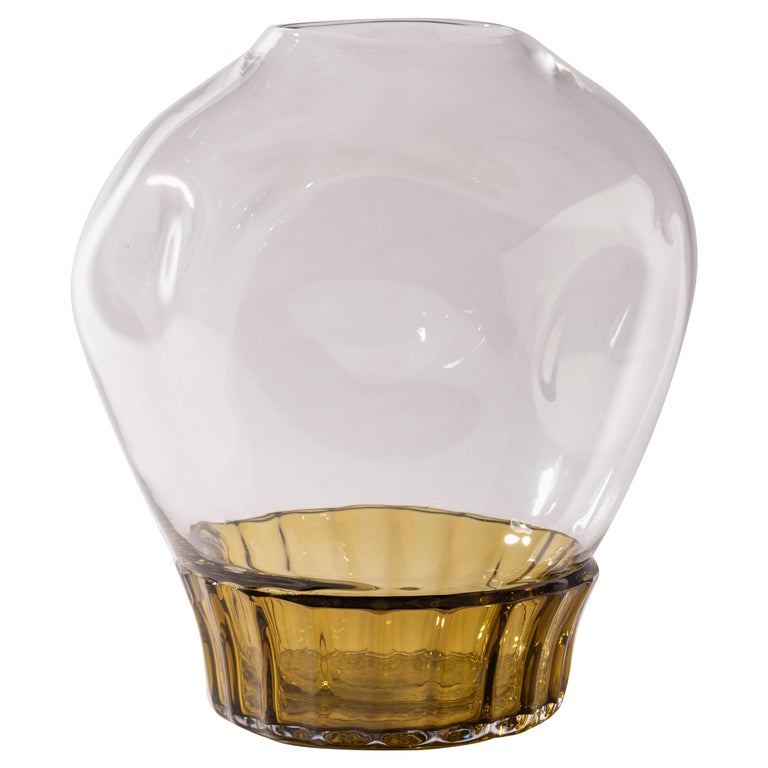 Silice Vase, Blown Glass, Unique 22 For Sale
