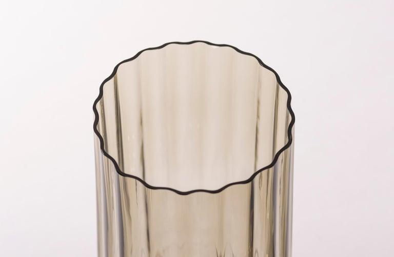 Mexican Silice Vase, Blown Glass, Unique 23 For Sale