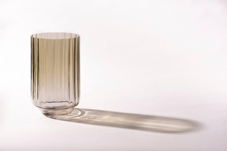 Contemporary Silice Vase, Blown Glass, Unique 23 For Sale