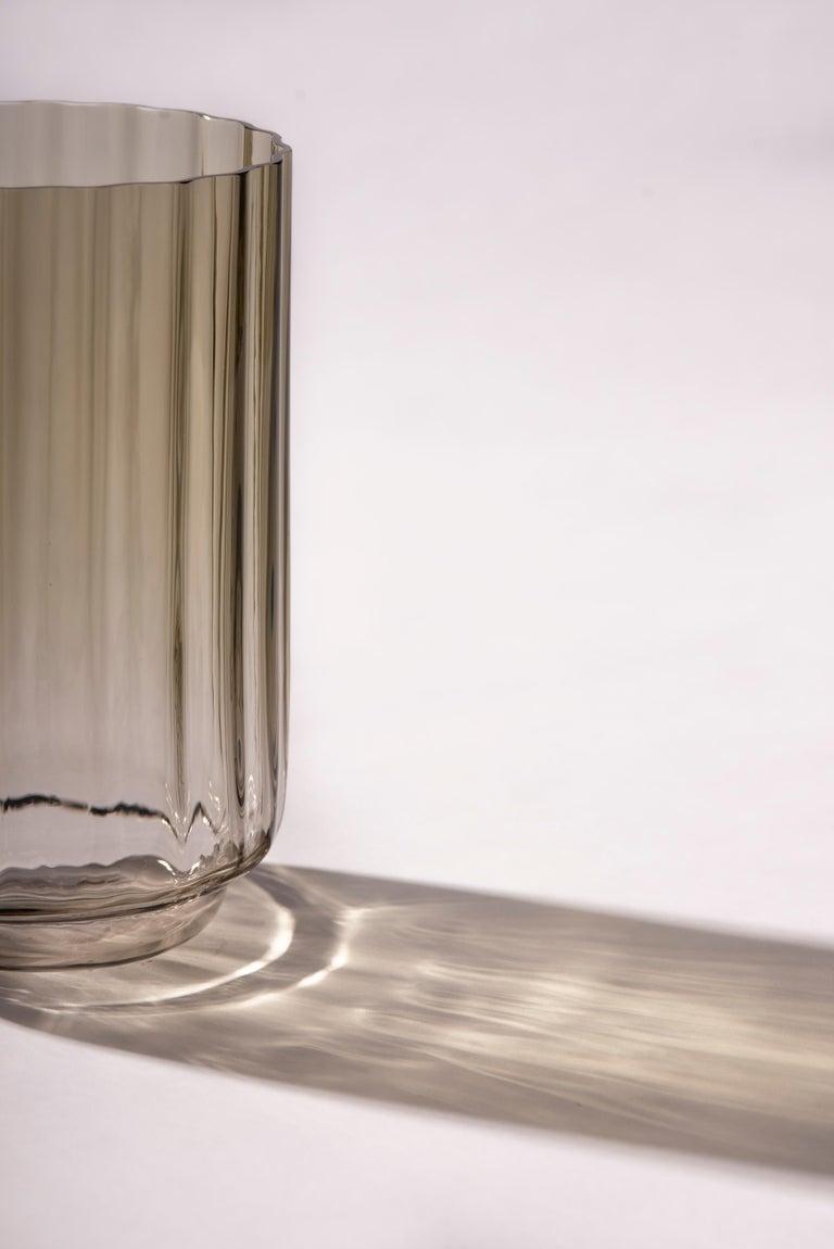 Silice Vase, Blown Glass, Unique 23 For Sale 2