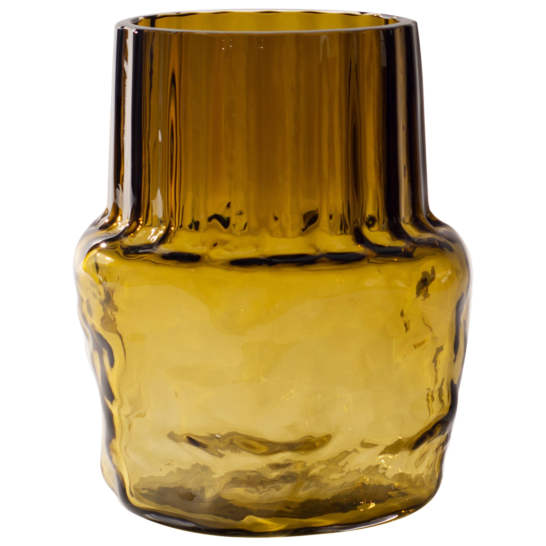 Silice Vase, Blown Glass, Unique 24