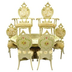 Silik Style Italian Baroque Rococo Dining Room Set by John Turano & Sons