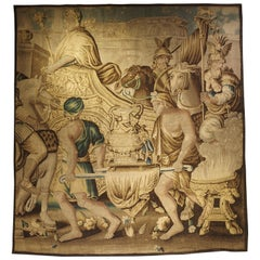 Silk and Wood Aubusson Tapestry, the Entry of Alexander into Babylon, circa 1710