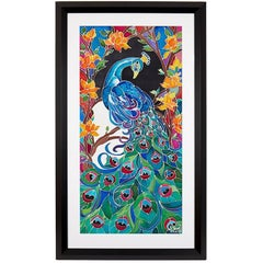 Original Silk Batik W. Jagger Peacock, 2017
