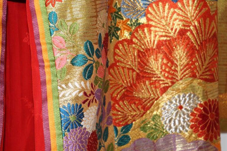 20th Century Silk Brocade Japanese Ceremonial Wedding Kimono For Sale