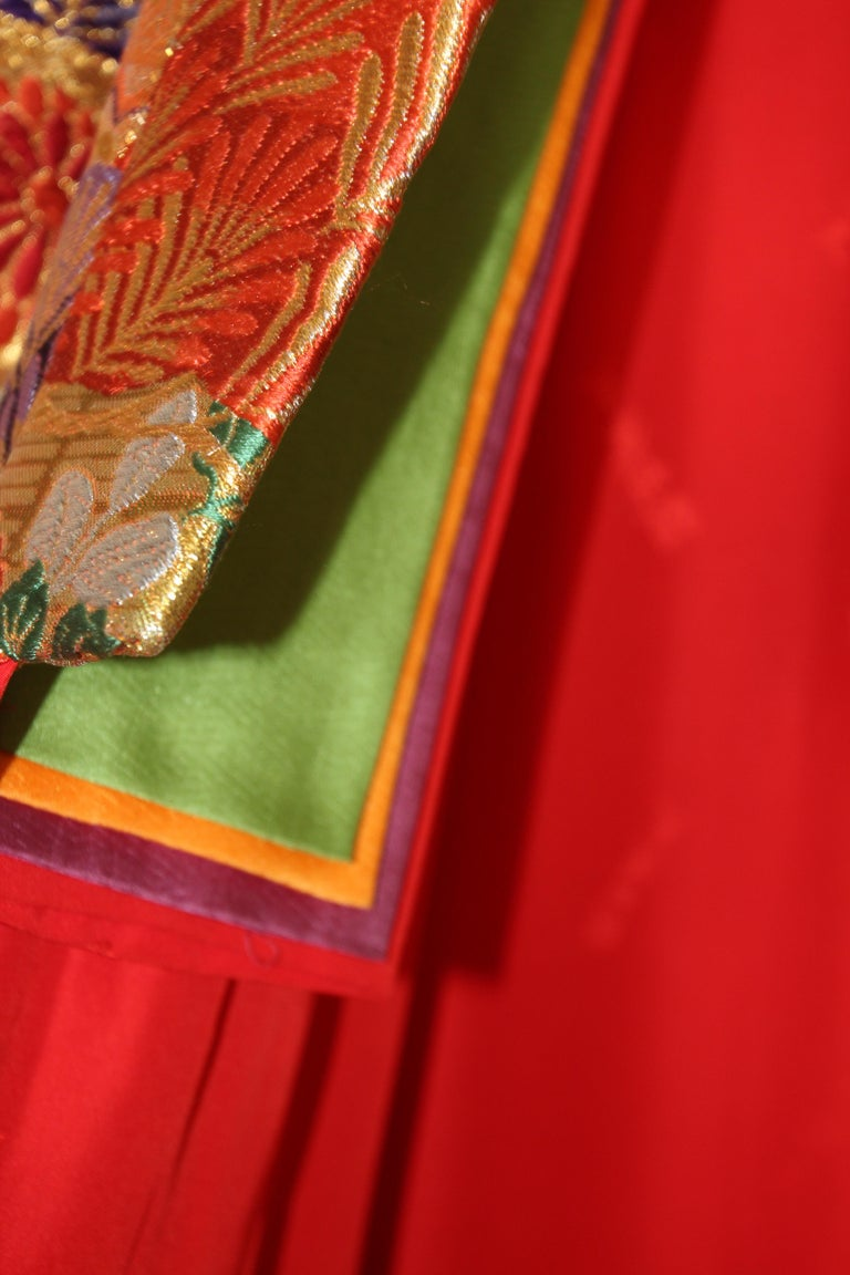 Silk Brocade Japanese Ceremonial Wedding Kimono For Sale 1