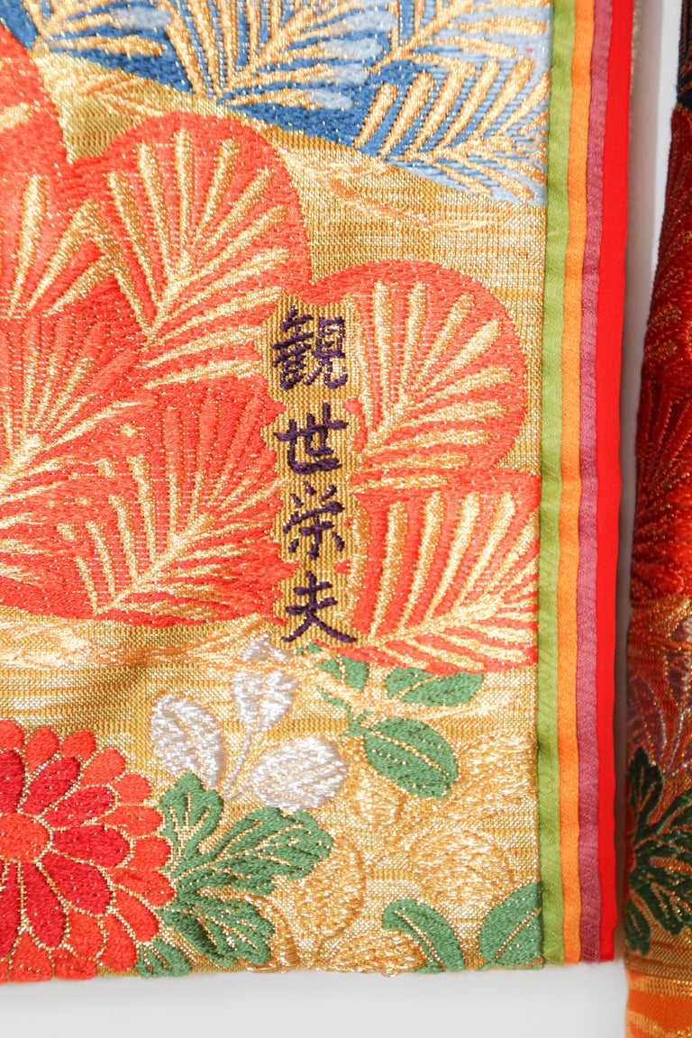 Silk Brocade Japanese Ceremonial Wedding Kimono For Sale 2