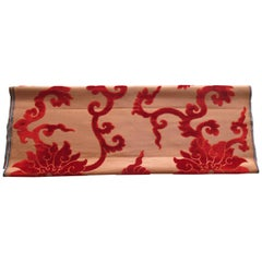 Silk Cut Velvet Burnt Orange Obi Textile