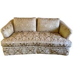 Silk Damask Upholstered Sofa, Ferguson Copeland Two of Two