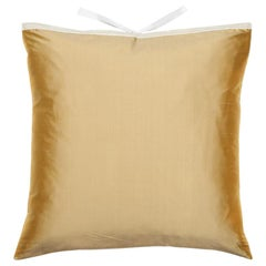 Silk Dupioni Throw Pillow Butter