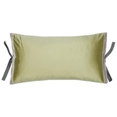 Silk Dupioni Throw Pillow Celery