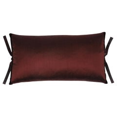 Silk Dupioni Throw Pillow Chocolate