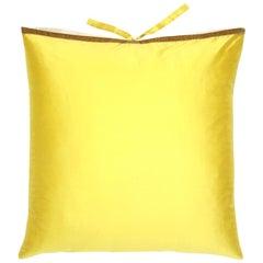 Silk Dupioni Throw Pillow Citron