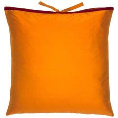 Silk Dupioni Throw Pillow Mandarin