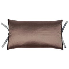 Silk Dupioni Throw Pillow Mudd