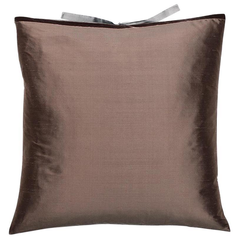 Silk Dupioni Throw Pillow Mudd