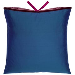 Silk Dupioni Throw Pillow Peacock Flamenco