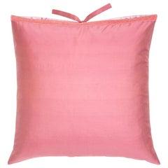 Silk Dupioni Throw Pillow Petal