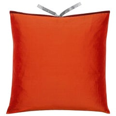Silk Dupioni Throw Pillow Pomegranate