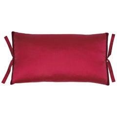 Silk Dupioni Throw Pillow Raspberry