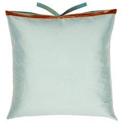 Silk Dupioni Throw Pillow Robins Egg