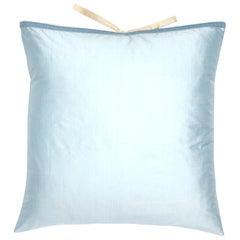 Silk Dupioni Throw Pillow Sky Blue
