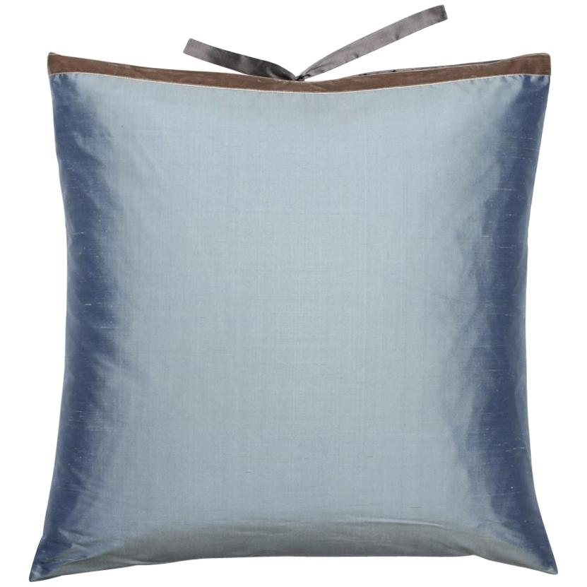 Shimmering Throw Pillows with Silk Trim