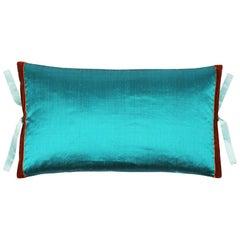 Silk Dupioni Throw Pillow Teal