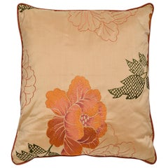 Silk Embroidered Large Italian Pillow