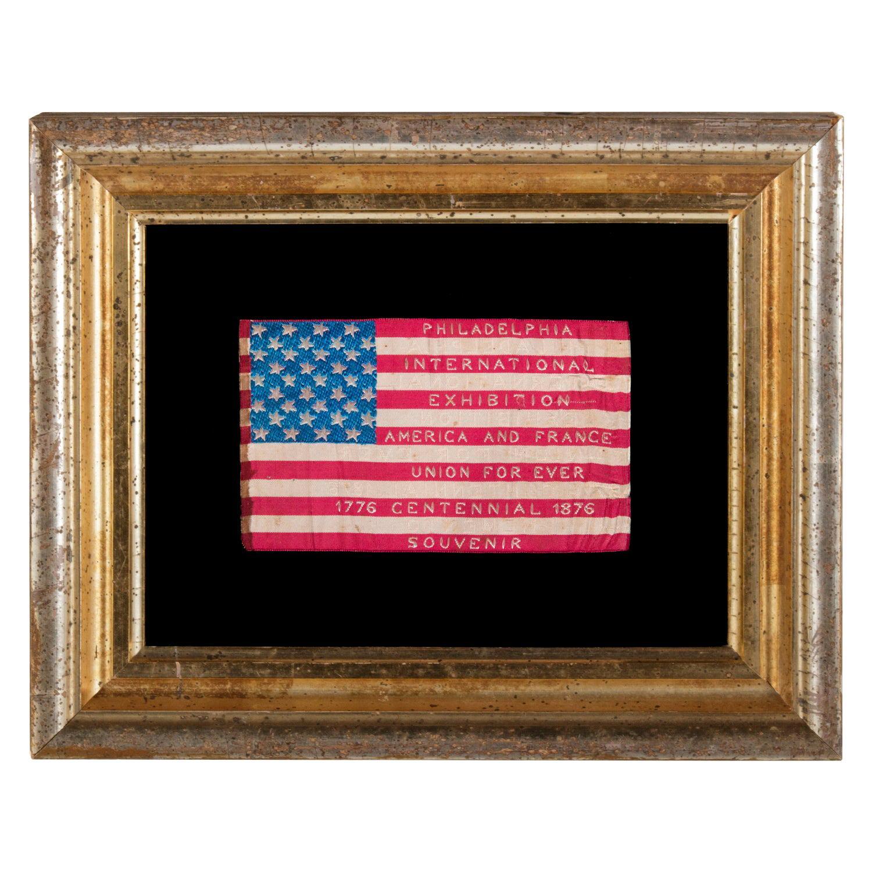 Silk Flag Made for the 1876 Centennial International Exp in Philadelphia