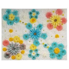 Silk Floral Art on Canvas by NEAT
