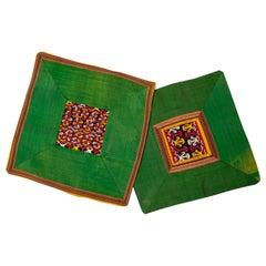 Silk Ikat Pair of Pillows