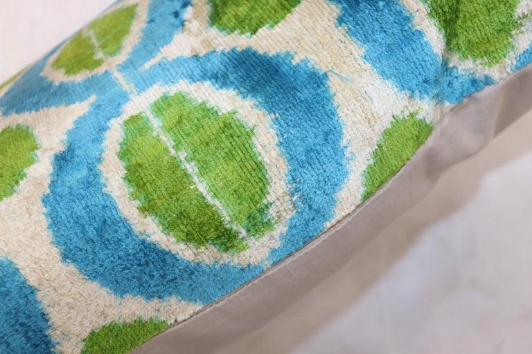 Modern Silk Ikat Pillow For Sale