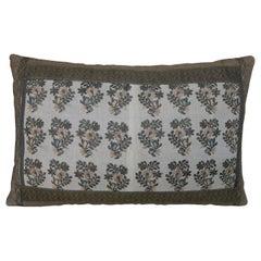 Silk Metalic Pillow circa 18th Century 1597p