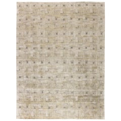 Silk Modern Geometric Maze Rug