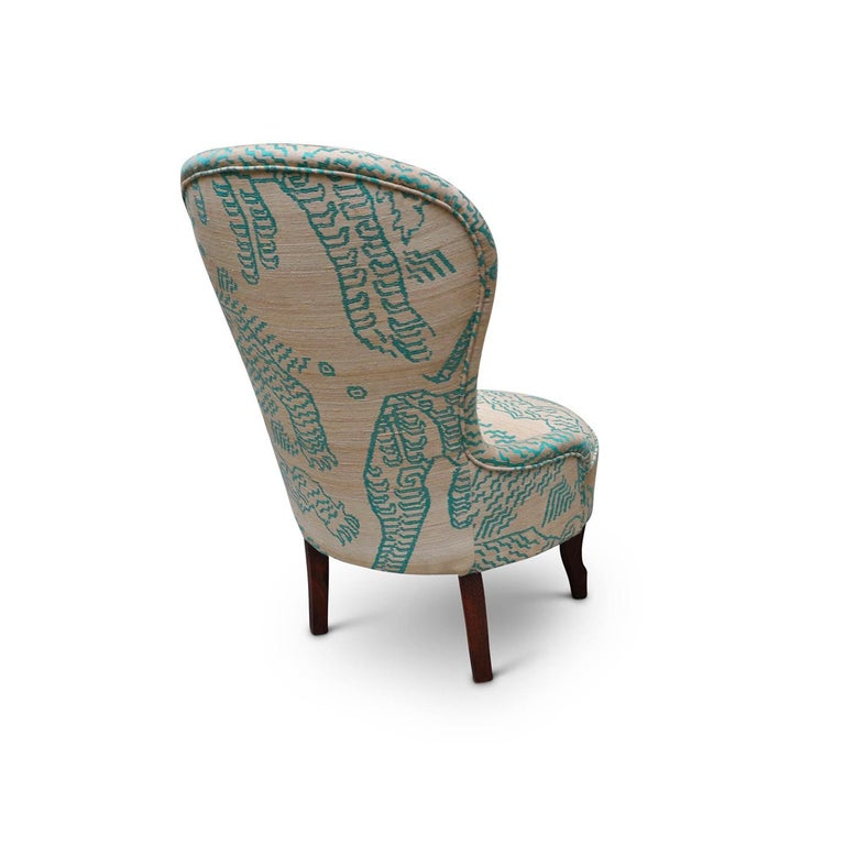 Italian Silk Nonnina Armchair For Sale